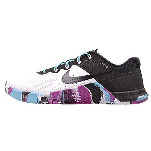 Nike Frauen Metcon 2 Trainingsschuh WEISS / SCHWARZ-GAMMA BLAU-HYPER-VIOLETT