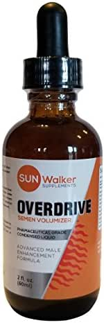 Overdrive Fertility Volumizer Supplement for Men - Liquid Form 80% Better Absorption Rate Than Capsules