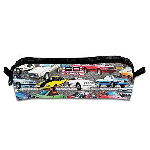 Mustangs Tissue Box - Mustangs Pencil Case Stationery Pouch Bag Coin Purse Multipurpose Travel Pouch Cosmetic Bag Organizer for Pen with Zipper