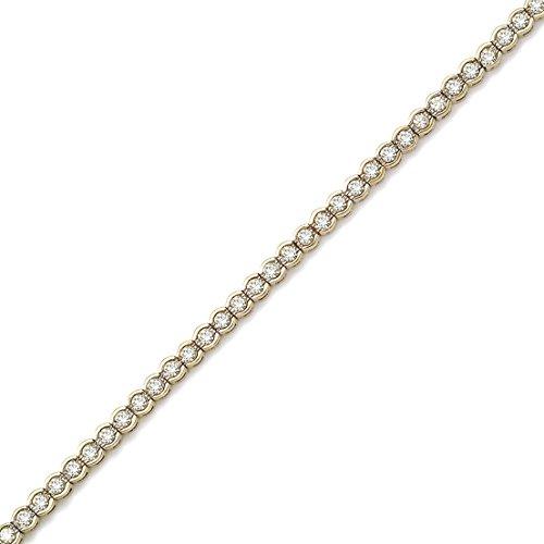14K Yellow Gold Round Diamond Circular Style Tennis Bracelet (7 Inch Length) by Direct-Jewelry