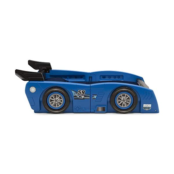 Delta Children Grand Prix Race Car Toddler and Twin Bed, Blue 5