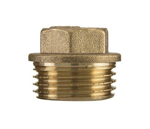 1/2 'pouces fil bsp vis de tuyaux en laiton mâle hexagonal de capuchon de protection bouchon d'extrémité de tube Invena