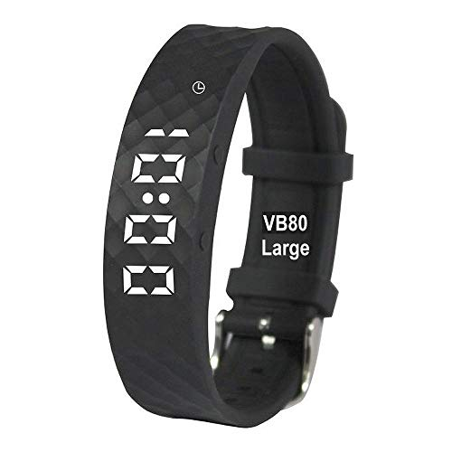 eSeasongear VB80 Vibrating Alarm Watch, Silent Vibration Shake Wake ADHD Medication Reminder (Black-Large)