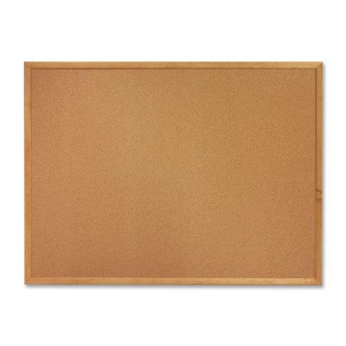 Cork Board 6 x 4 Oak frame bulletin board by Sparco