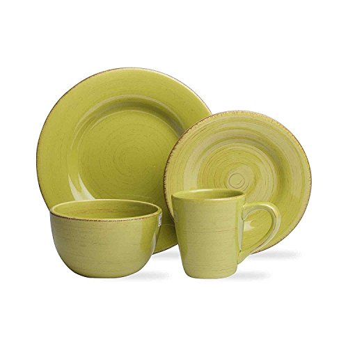 tag - Sonoma 16-Piece Ironstone Ceramic Dinner Set, A Stylish Way to Bring Bold Color to Your Table, Apple (Apple Dish Set)