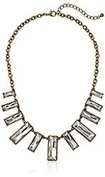 Panacea Rectangle Antique Crystal Necklace