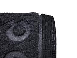 Elogio Door Mat Indoor Outdoor Doormats Outside Effective Scraping of Dirt Patio Grass Moisture Snow Dust and Grit Removal Ideal Low Profile Doormat Front Door Entrance Mat Grey Rug Non Slip Rubber