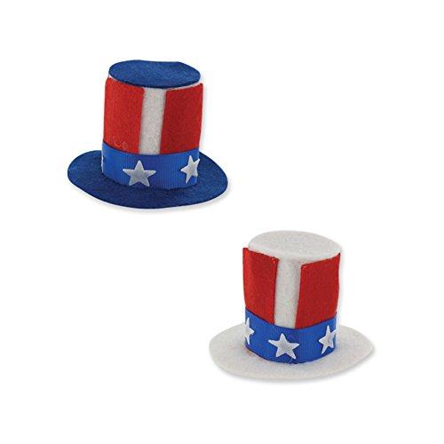 Patriotic Mini Hair Clips (1 Pieces) 4th of July/ Hair (Patriotic Hat Hair Clip)