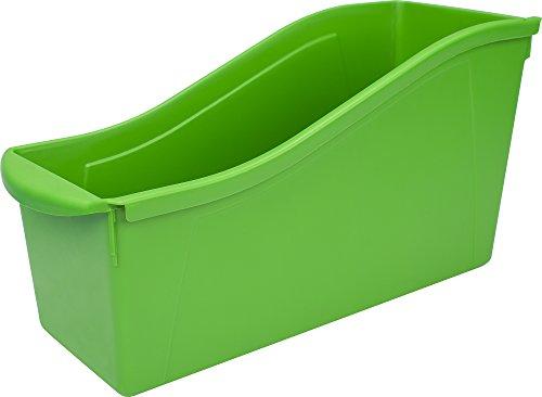 """Storex Large Book Bin, 14.3 x 5.3 x 7"""", Green, Case of 6 (71104U06C)"""