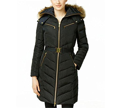 Michael Kors Down Coat with Zipper Chest Pockets-Black-M ()