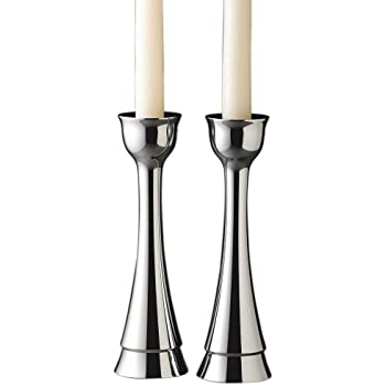 Nambe Sabbath 8-inch Candlesticks, Pair