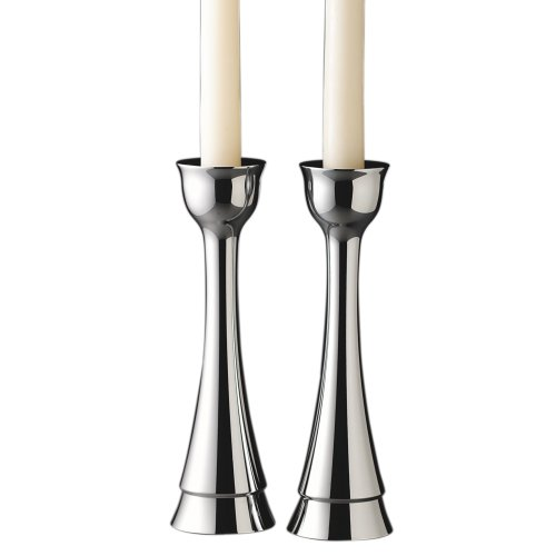 Metal Sabbath Candlesticks - Nambe Sabbath 8-inch Candlesticks, Pair