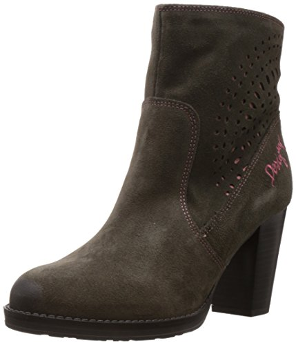 Isabel Desigual Womens Boots Gray Ankle 65qFHZx