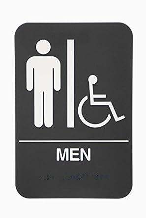 Amazon.com: Para hombre Restroom Sign – Ada aprobado baño ...