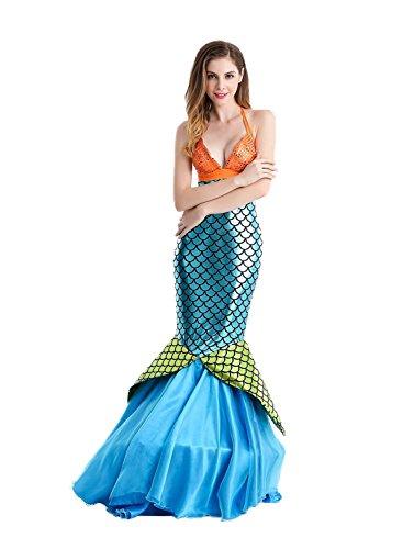 NoveltyBoy Halloween Mermaid Cosplay Costume Cosplay Apparel Hotel Moderator Evening Dress Dovetail Skirt (Dance Costume Dressmaker)