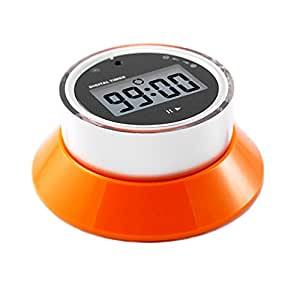 Huayoung Rotated Digital Multifunctional Kitchen Timer Exercise Timer Fashion Timers 5 Color Options (Orange)