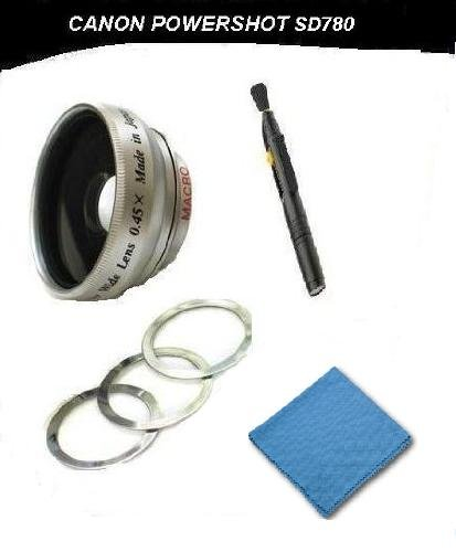 Canon Powershot SD780 IS 2.0x Telephoto (Magnetic Lens) + DIGI Micro-Fiber Cleaning Cloth + Pro Lens Cleaning Pen. by Digi