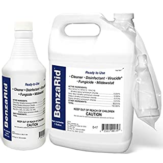 BenzaRid Professional Disinfection Pack | Hospital Grade Disinfectant Spray | EPA Registered, Kills Viral & Bacterial Pathogens MRSA, Viruses, SARS, H1N1, H5N1 Avian & Swine Flu, Staphylococcus, Mites, Blood Born Pathogens, Black Mold, and Water Damage Set