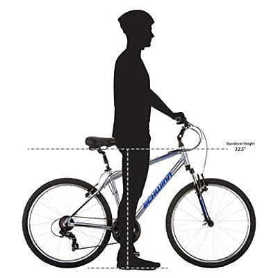 "Schwinn Suburban Deluxe Men's Comfort Bike 26"" Wheel Bicycle, Grey, 18""/Medium Frame Size"