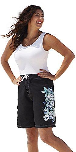 swimsuitsforall Women's Gardenia Long Board Short 16 Blue