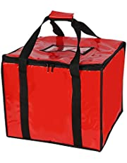 Insulated Pizza Carrier Bag for Food delivery -Foldable Heavy Duty Food Warmer Grocery Bag for Camping Catering Restaurants UberEats Doordash