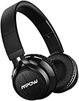 Mpow Wireless Bluetooth Headphones On Ear, 40mm Driver Wireless Headset Foldable with Mic, Wired and Wireless Headphones for Cell Phone/ TV/ PC