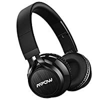 Mpow Thor Bluetooth Headphones On Ear, 40mm Driver Wireless Headset Foldable with Mic, Wired and Wireless Headphones for Cell Phone/TV/ PC