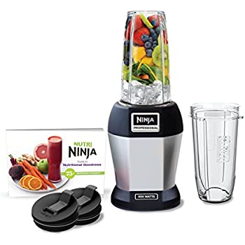 'Nutri Ninja Pro Blender, Silver (BL456)' from the web at 'https://images-na.ssl-images-amazon.com/images/I/41xJCcbEwgL._SL500_AC_SS350_.jpg'