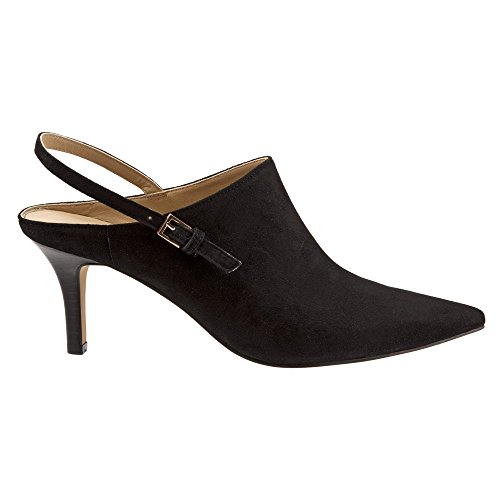 Trotters Womens Angel Pumps Shoes Black Kid Suede Leather vKb7FF
