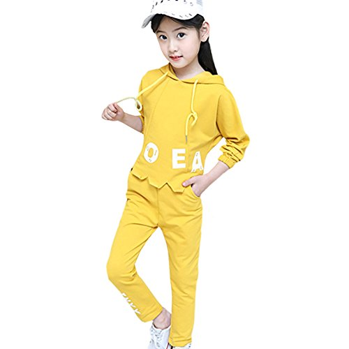 M&A Girls Fashion Tracksuit Clothing Set Hoodie + Pants Spring Autumn by M&A (Image #6)