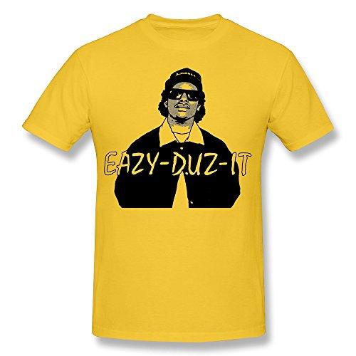 Men's NWA Eazy E Poster Short Sleeve T Shirts Size XS Yellow