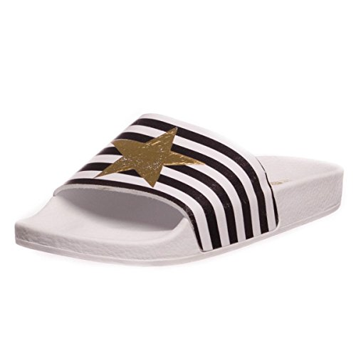 The White Brand Star With Stripes femmes, caoutchouc, chaussons