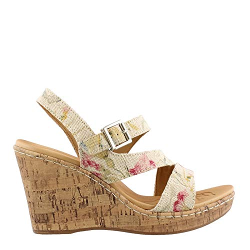 B.O.C. Women's, Schirra High Heel Wedge Sandal Floral 8 M