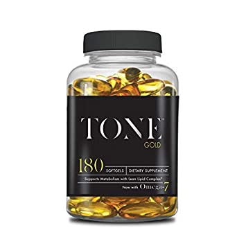 Complete Nutrition Tone Gold, Supports Body Fat Loss, Metabolism Weight Management, Omega 7, 6 3, Sea Buckthorn, 180 Softgels