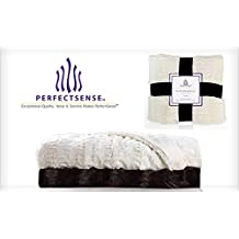 New 1pc Oversized Luxury Soft Faux Fur Throw Blanket by PerfectSense - Chocolate