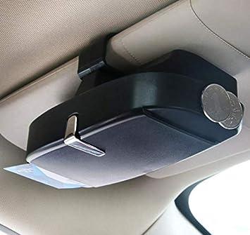 Jevogh Sonnenbrillen Etui Auto Brillenetui Brillenbox Sonnenbrillenhalterung Mit Magnet Saugfläche Tickets Münzen Halter Organizer Aufbewahrungskoffer Gk07 Auto