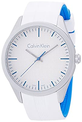 Calvin Klein K5E51FK6 Color White Silicone Strap Watch