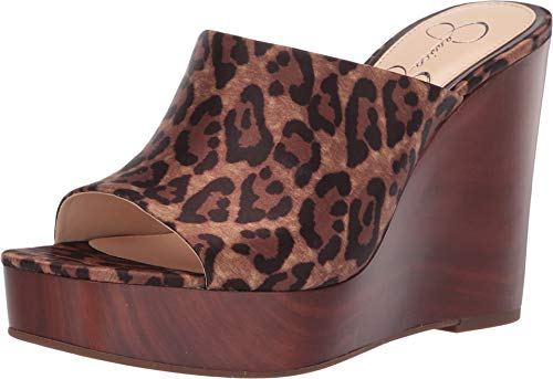 Jessica Simpson Women's Shantelle Natural Alicia Leopard Print Satin 9 M US