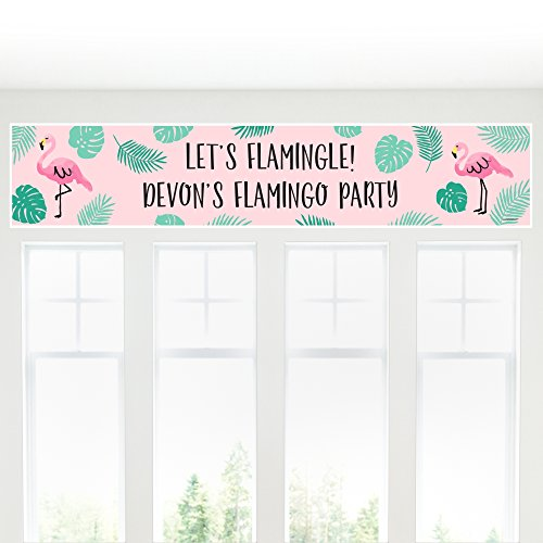 Pineapple Sake - Big Dot of Happiness Custom Pink Flamingo - Party Like a Pineapple - Personalized Tropical Summer Party Decorations Party Banner