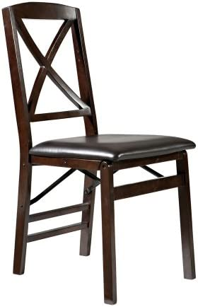 Linon Tremont X-Back Folding Dining Chair