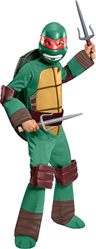 [Teenage Mutant Ninja Turtles Deluxe Raphael Costume, Medium] (Ninja Turtle Costumes Boys)