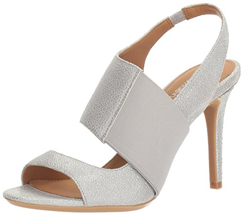 Calvin Klein Women's Navea Dress Sandal, Vesper Grey, 8.5 M US by Calvin Klein