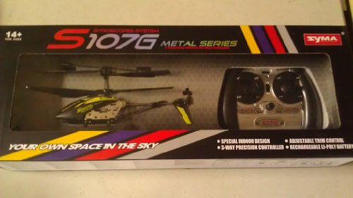 A Set of 2 Brand New Genuine Syma S107G 3 Channels Mini Indoor Co-axial Metal Body Frame & Built-in Gyroscope Rc Remote Controlled Helicopters (1) Black and (1) Green with 1 Black Spare Parts Set & 2 AC Chargers