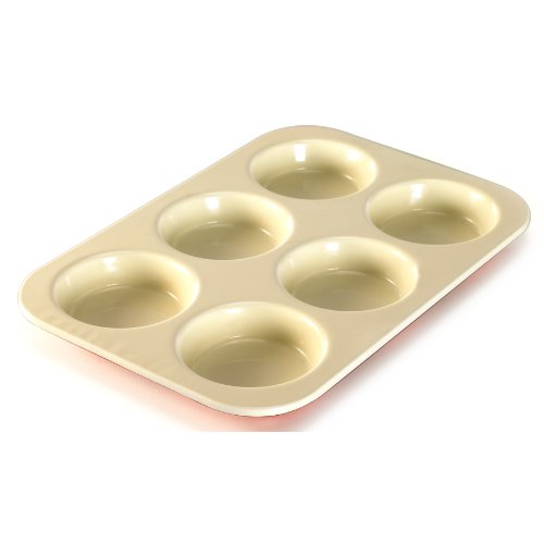 Nordic Ware 40122 6-Cavity Pie Baking Pan, Mini, Colors Vary