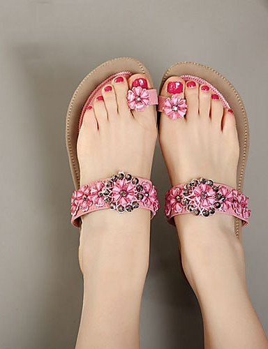 ShangYi Womens Shoes Flat Heel Toe Ring Sandals Casual More Colors available almond