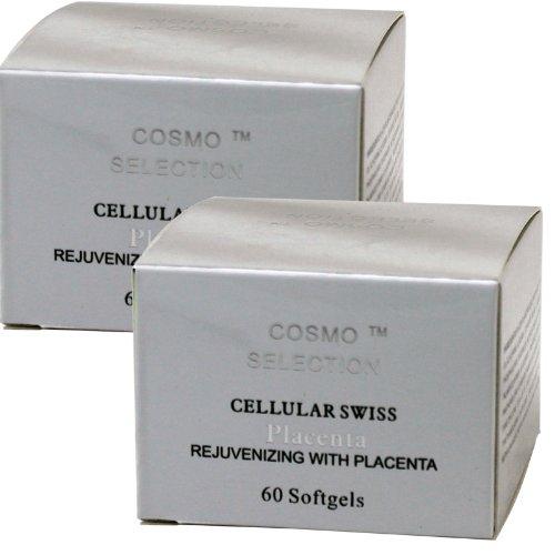 2 x Cellular Swiss Placenta Vitamin-E Skin Oil 60 Gels, R...