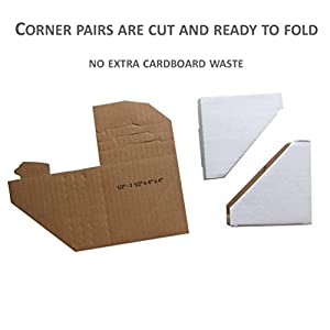 Frame Corner Protector, Pack of 120, Cardboard Corner Protectors, Adjustable Picture Frame Corner Protectors for Shipping, Packing or Moving Art - 120 Cardboard Corners