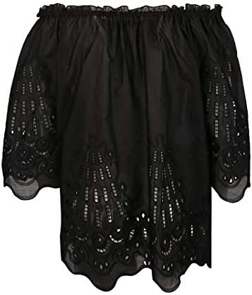 Alberta Ferretti Fashion Woman A022301550555 Black Cotton Blouse | Spring Summer 20
