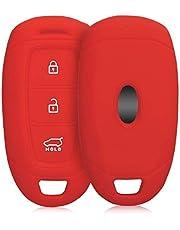 kwmobile autosleutel hoesje compatibel met Hyundai 3-knops autosleutel Keyless Go - Autosleutel behuizing in rood