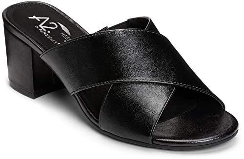 Aerosoles A2 Women's Midday Slide Sandal, Black, 8 M US